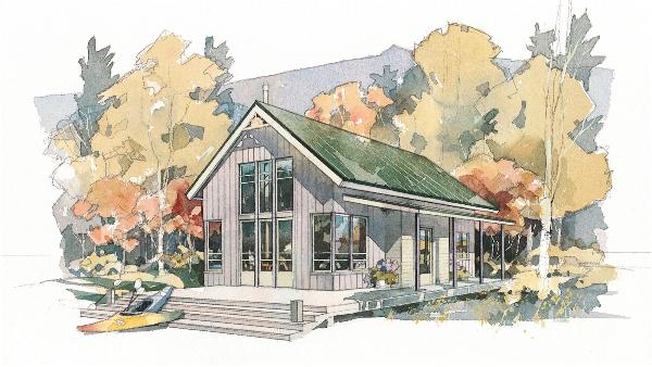 防腐木木屋设计效果图-新弘瑞森
