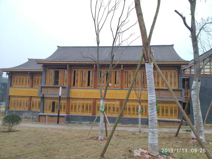 资阳天立学校古建国学堂屋架全木结构项目