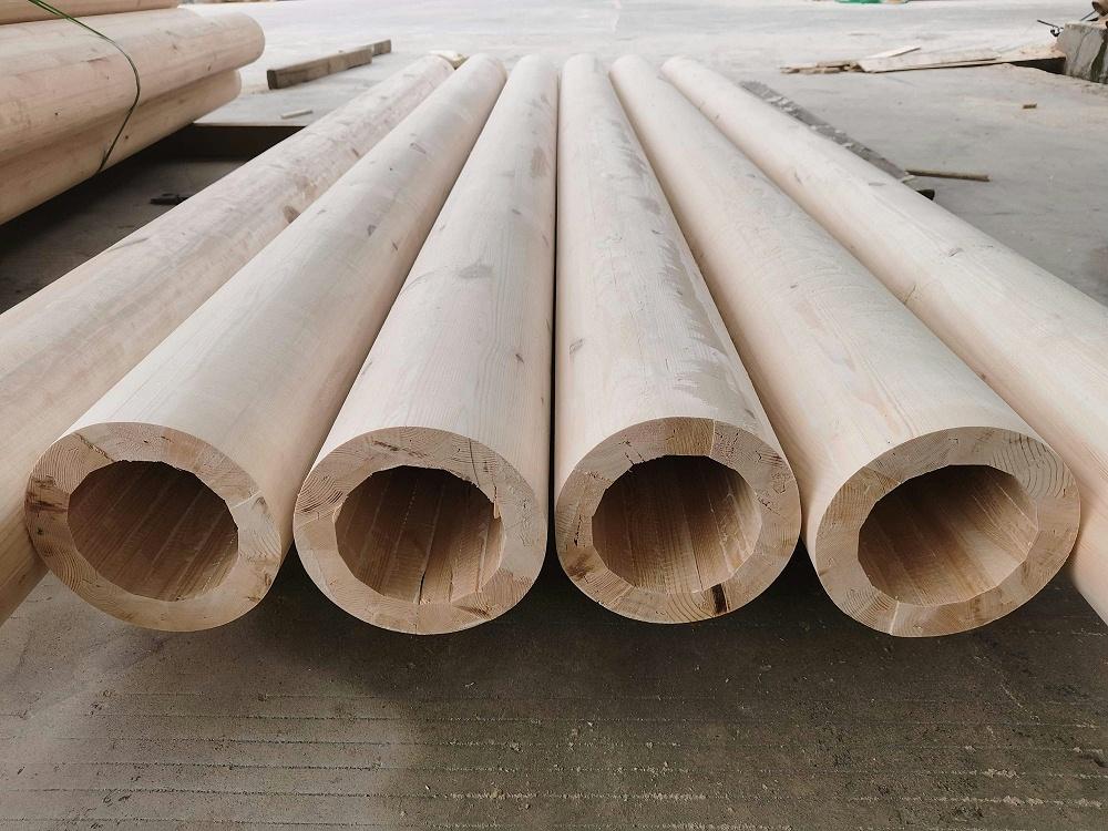 胶合木空心柱