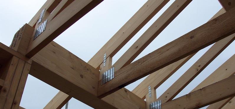 胶合木结构框架